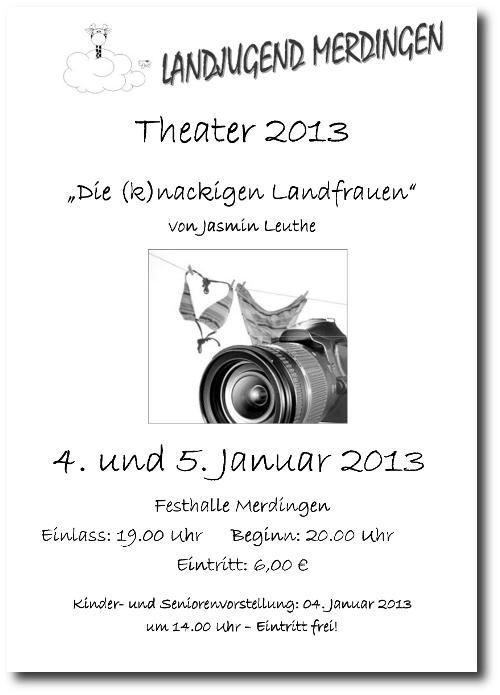 Plakat zum Theater der Landjugend Merdingen