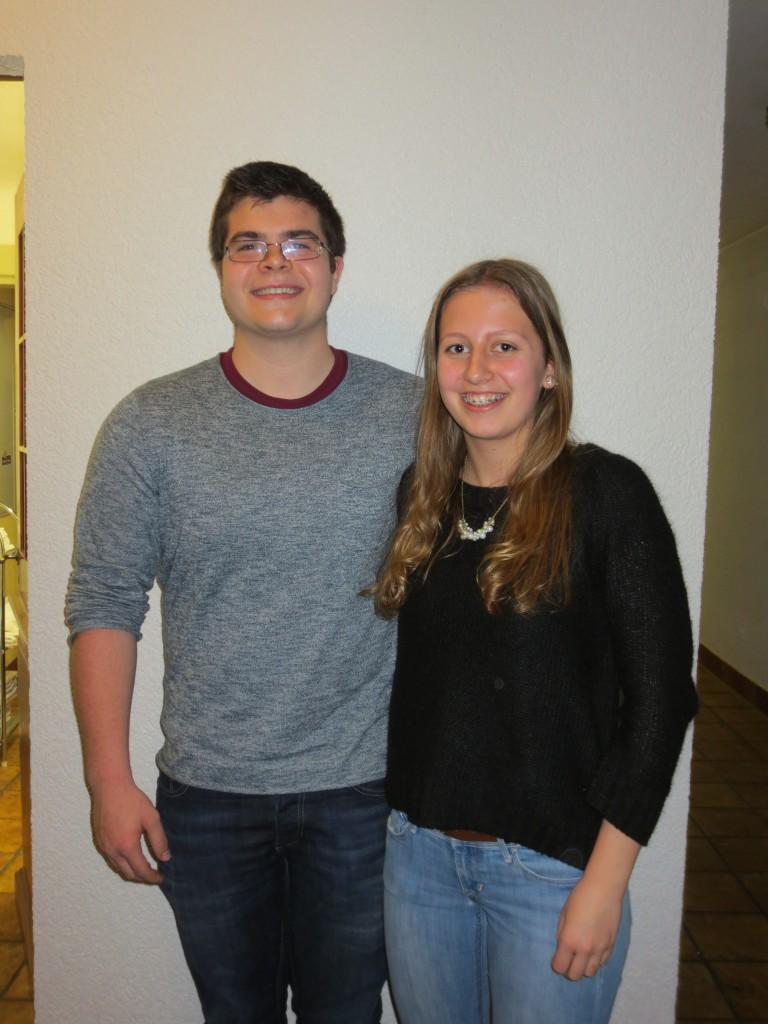 Beisitzende Martin Wichersheimer und Sophia Kraft
